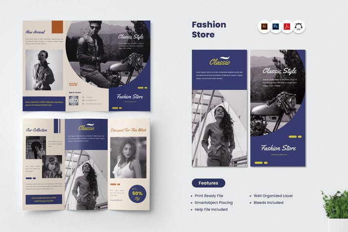 Thumbnail for Fashion Store Trifold Brochure