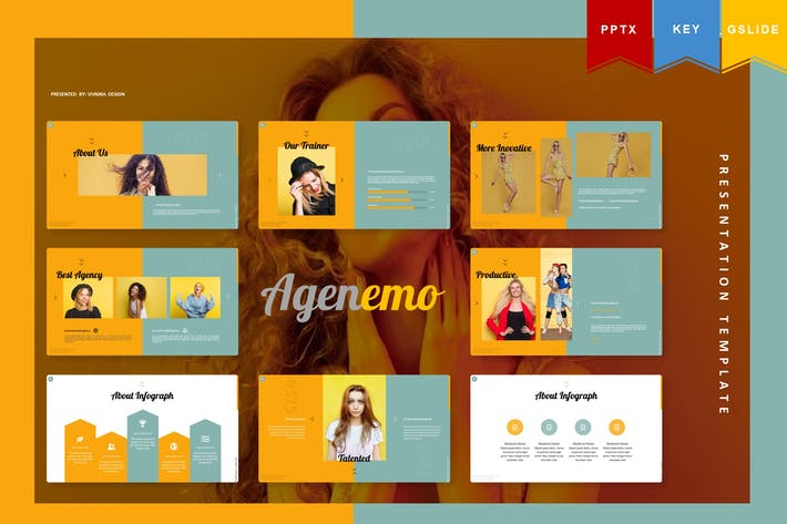 Thumbnail for Agenemo | Powerpoint, Keynote, Googleslides