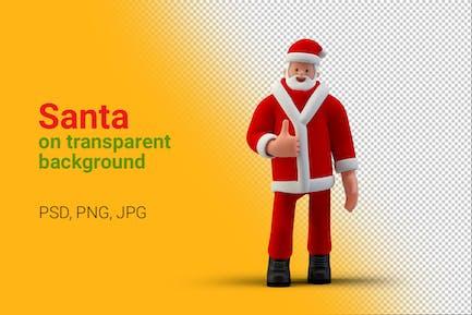 Santa shows Like OK gesture