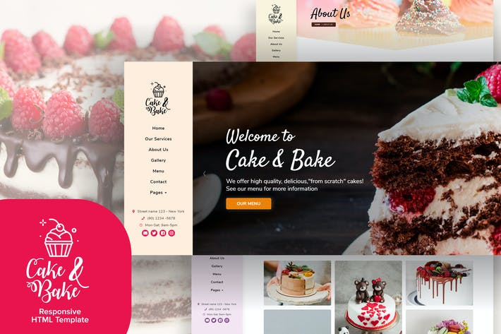 Thumbnail for Cake & Bake - Resposive HTML5 Template
