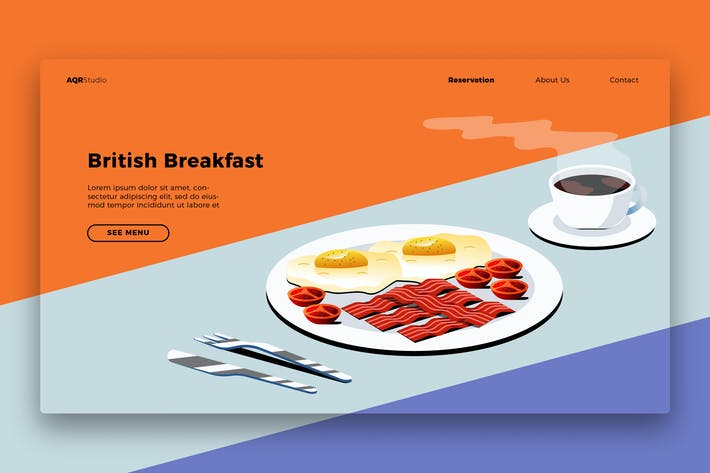 Thumbnail for Breakfast - Banner & Landing Page