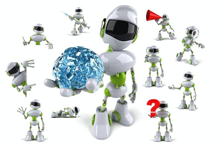 Thumbnail for 10 fun Robots !