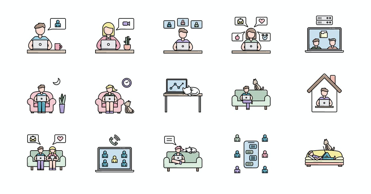 Download Work From Home Icon by vintagio
