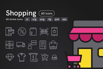Shopping Icons (60 icons)