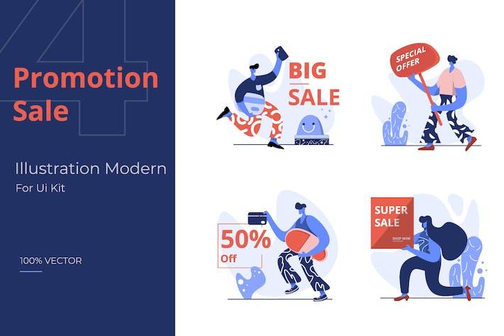 Thumbnail for Flache Illustration von Promotion Sale