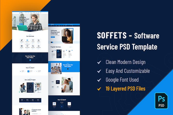 Thumbnail for Soffets - Software and IT Service PSD Template