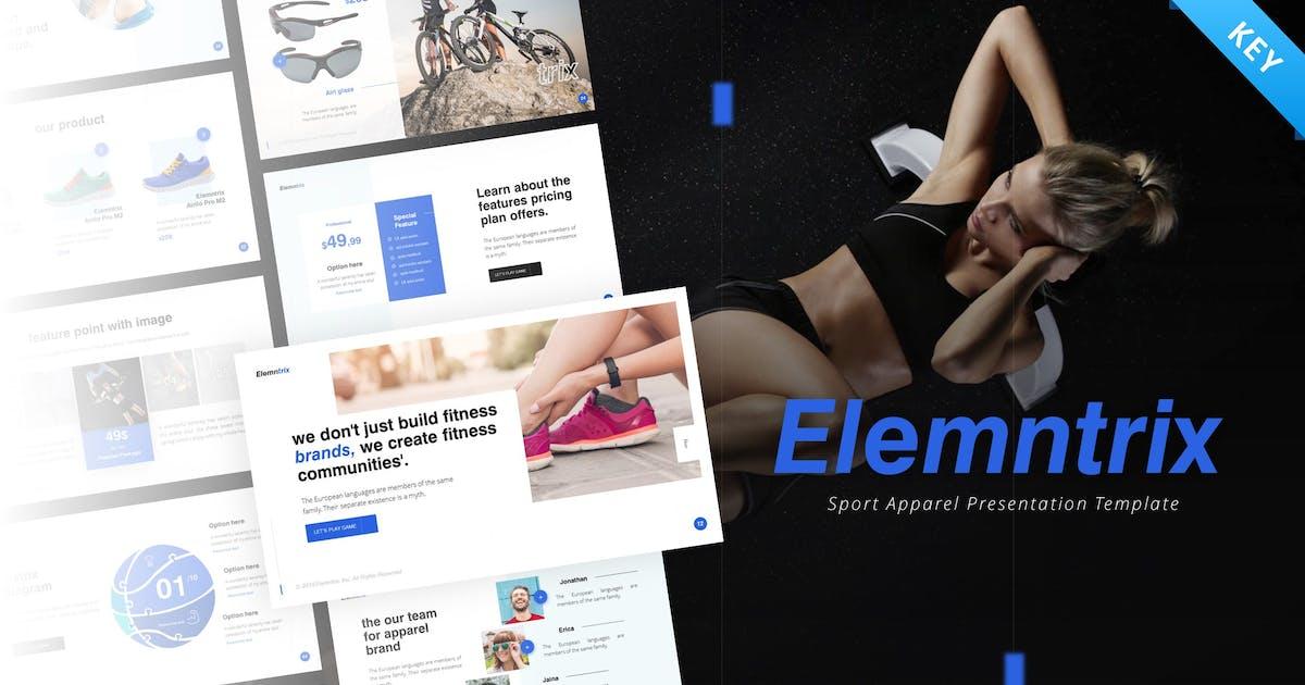 Download Elemntrix Sport Apparel Keynote Template by RRgraph