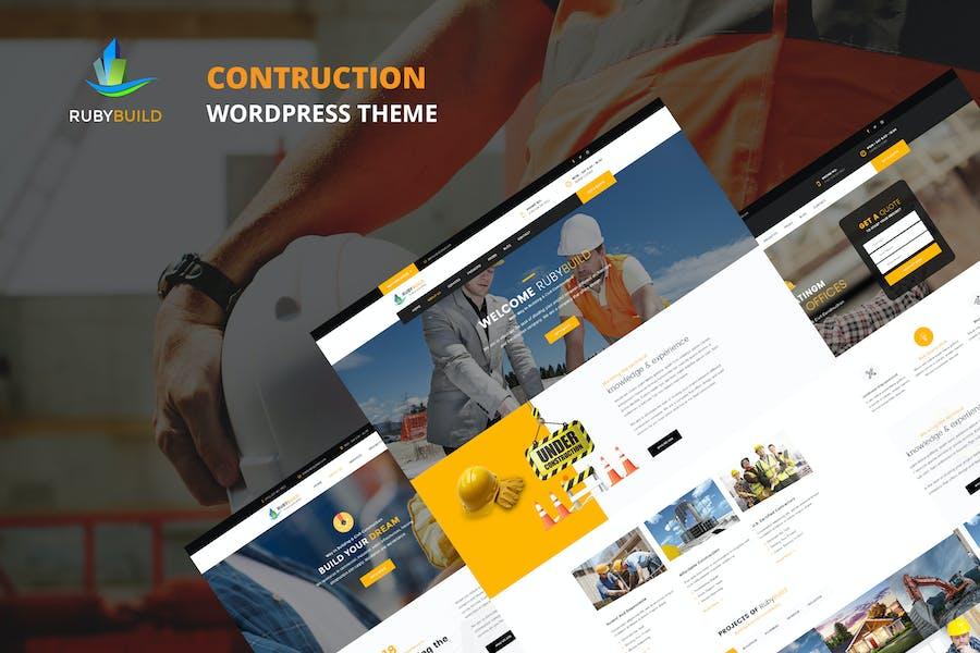 RubyBuild – Building & Construction WordPress Them