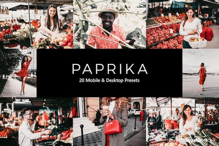 Thumbnail for 20 Paprika Lightroom Presets & LUTs