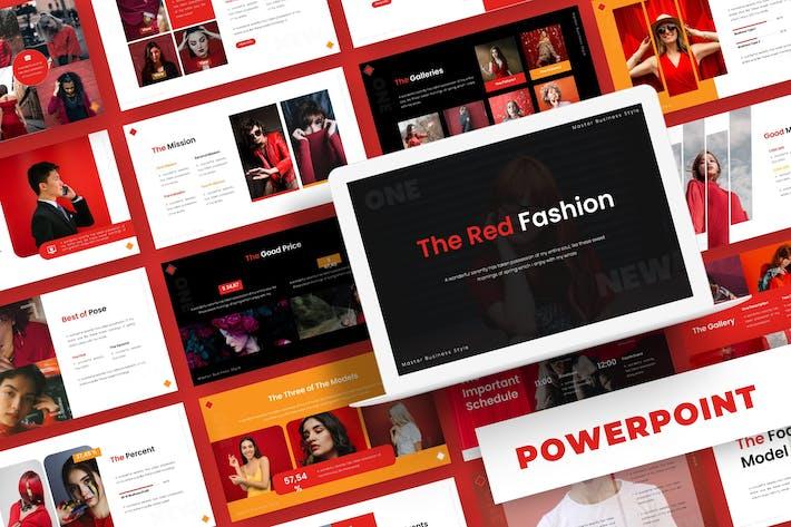 Красная мода - Powerpoint Шаблон