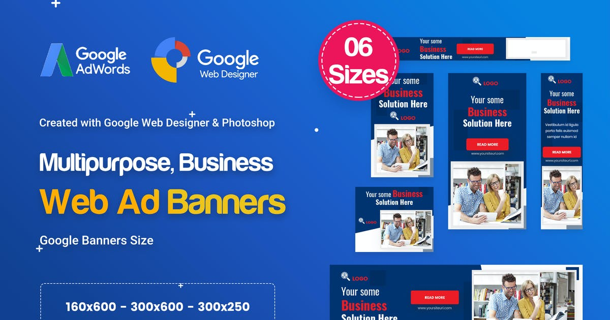Download Multi-Purpose Banners HTML5 D52 - GWD & PSD by iDoodle