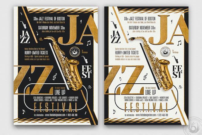 Thumbnail for Golden Jazz Flyer Template V3