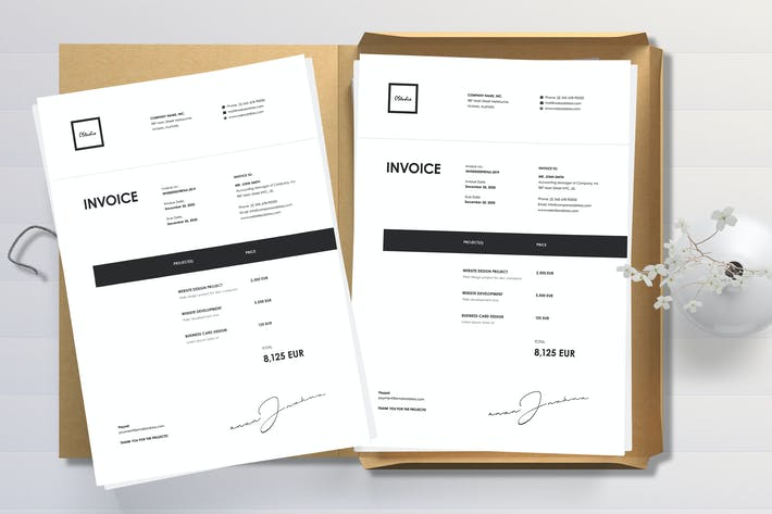 Thumbnail for Minimal Invoice Template 44