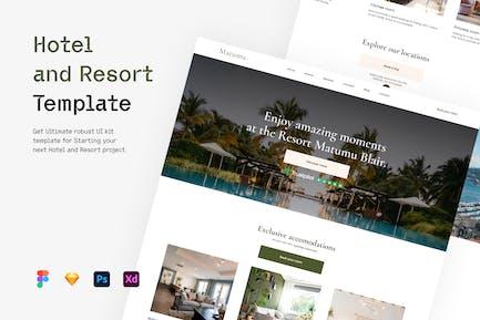 Hotel und Resort - Vorlage
