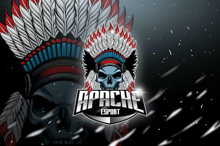 Thumbnail for Apache - Mascot & Esport Logo