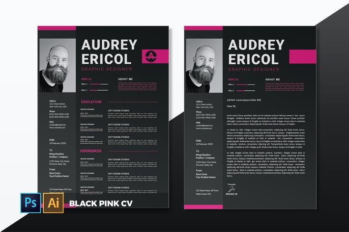 Thumbnail for Black Pink | CV & Resume