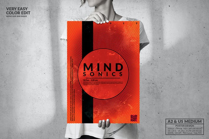 Thumbnail for Mind Sonics Music - Big Poster Design
