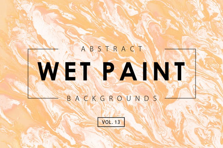 Cover Image For Wet Paint Backgrounds Vol. 13