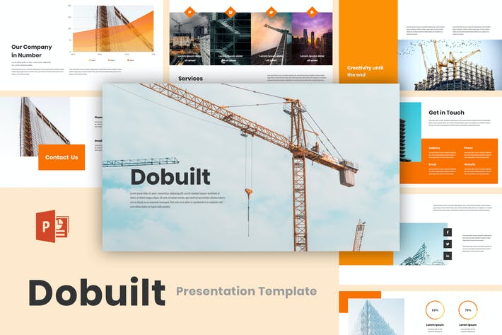 Thumbnail for Dobuilt - Construction PowerPoint Template