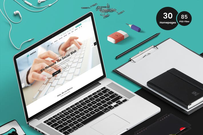 Thumbnail for Metrics - SEO & Marketing Business PSD Template
