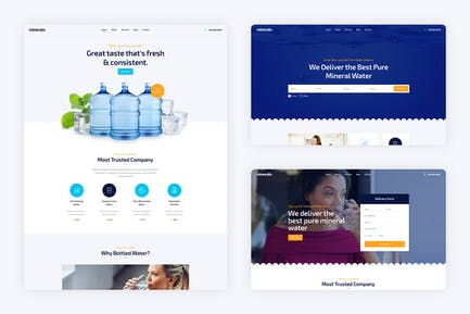 Mineralo - Water Delivery Services Template