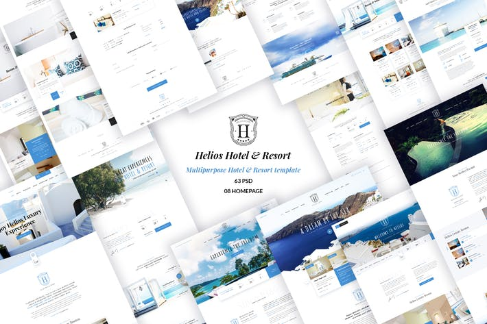 Thumbnail for HELIOS - Multipurpose Hotel & Resort PSD Template