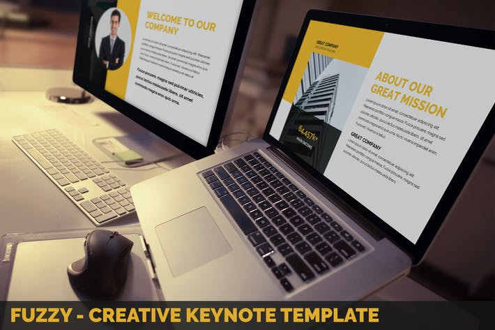 Thumbnail for Fuzzy - Creative Keynote Presentation Template