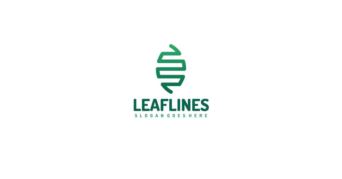 Download Leaf Lines Logo by 3ab2ou