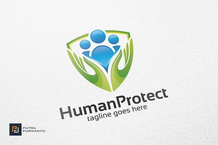 Thumbnail for Human Protect / Shield - Logo Template
