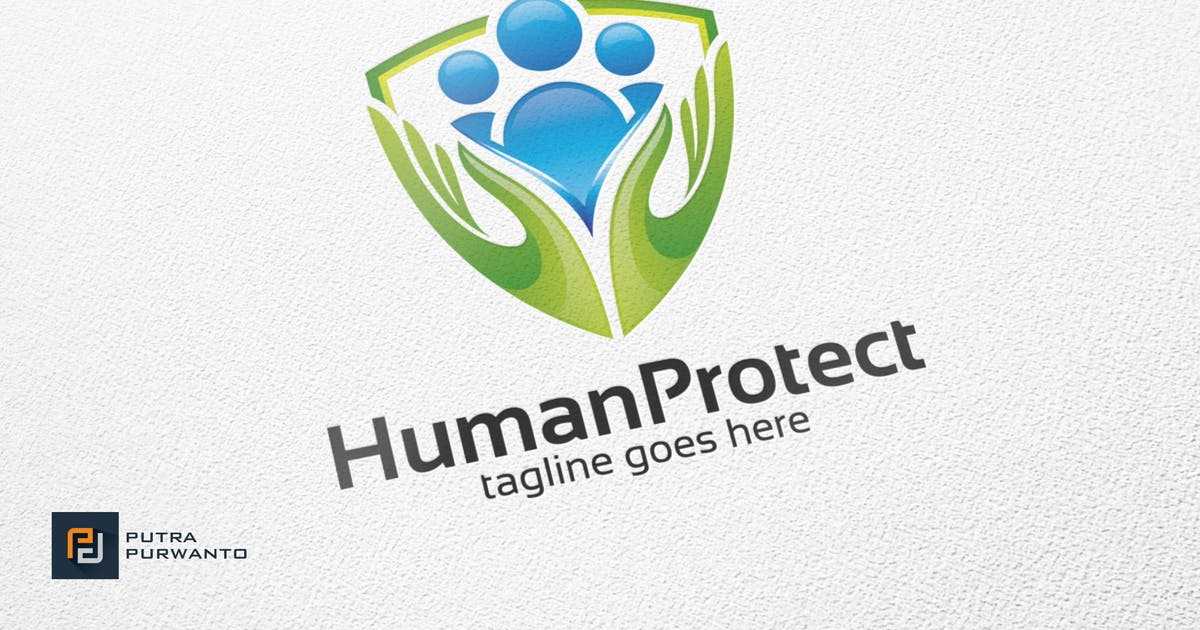 Download Human Protect / Shield - Logo Template by putra_purwanto