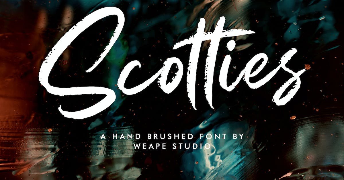Download Scotties - Hand Brushed Font by weapedesign