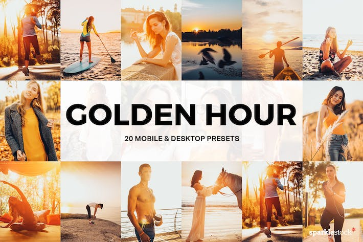 Thumbnail for 20 Golden Hour Lightroom Presets and LUTs