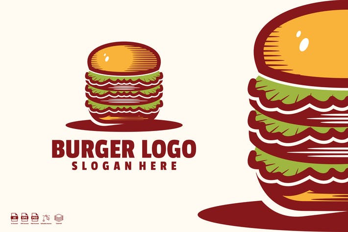 Thumbnail for burger logo Template