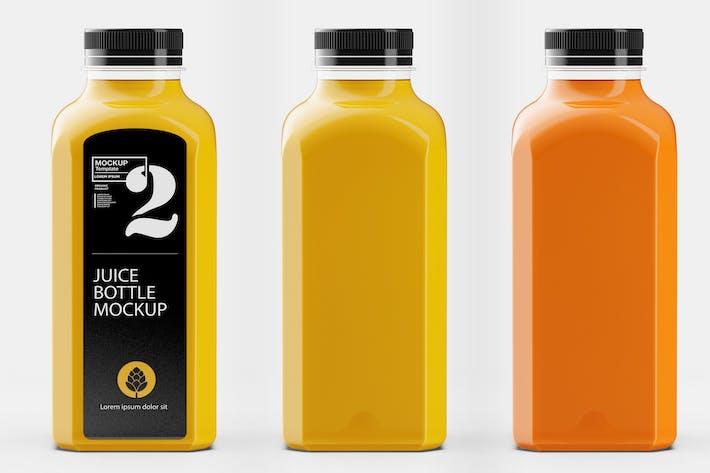 Thumbnail for Mockup de bouteille carrée de jus d'orange