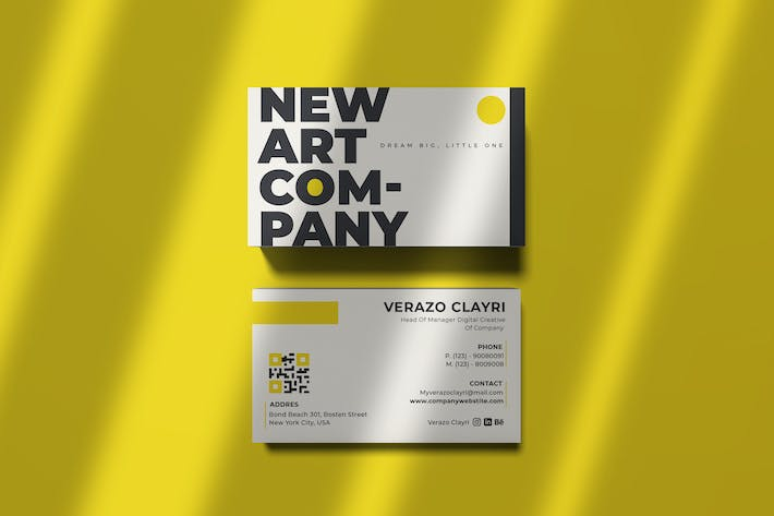 Thumbnail for Company Art Business Card