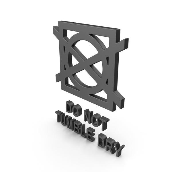 Textile Care Symbol Do Not Tumble Dry