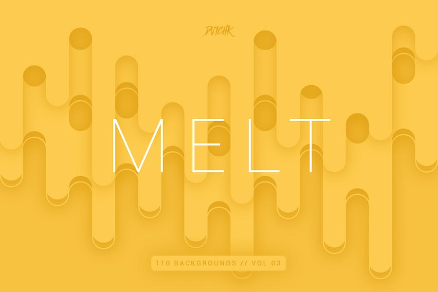 Melt   Abstract Rounded Backgrounds   Vol. 03