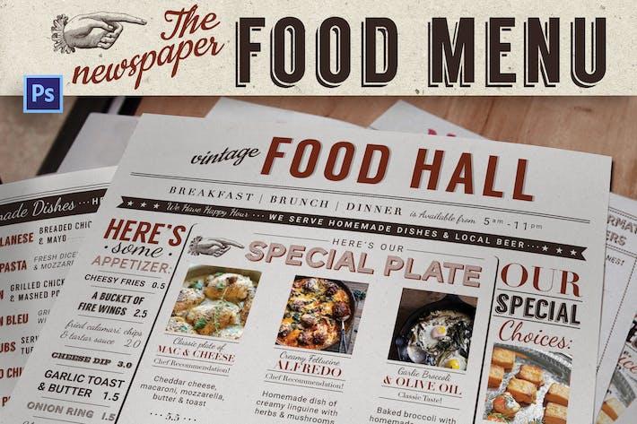 Cover Image For Newspaper Food Menu