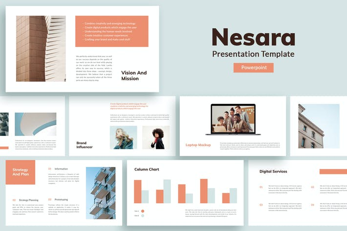 Thumbnail for Nesara - Шаблон презентации Powerpoint