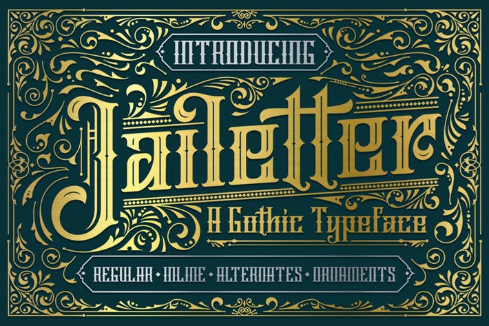 Thumbnail for Jailetter Typeface