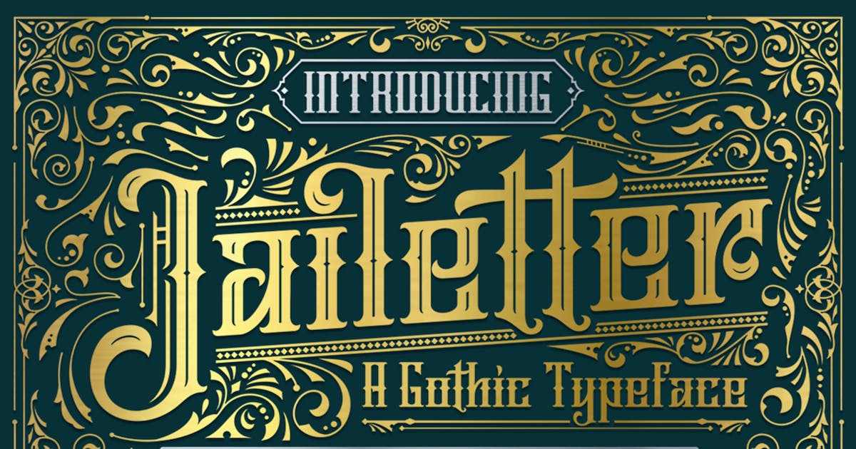 Download Jailetter Typeface by graptailtype