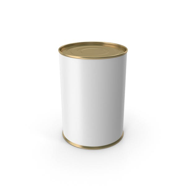 Gold Food Can With Label
