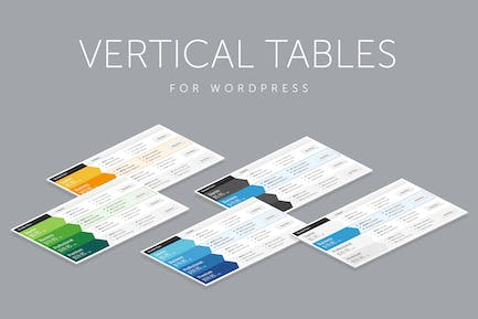 Vertical Web Pricing Tables for WordPress