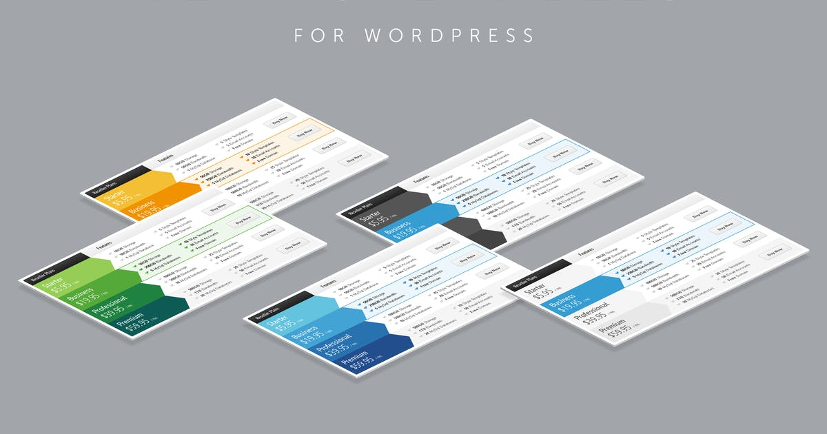 Download Vertical Web Pricing Tables for WordPress by QuanticaLabs
