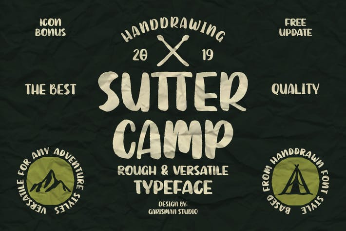 Thumbnail for Sutter Camp | Vintage Typeface