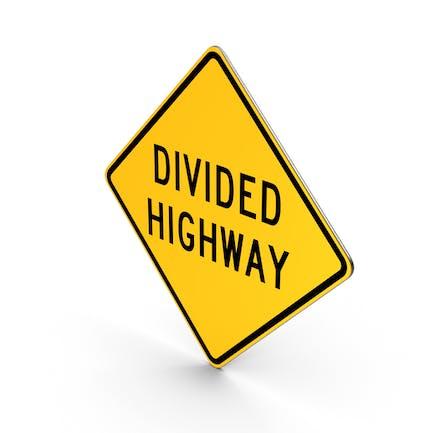 Unterteiltes Highway-Schild