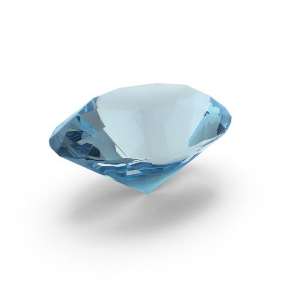 Thumbnail for Aquamarin im Ovalschliff mit Diamantschliff