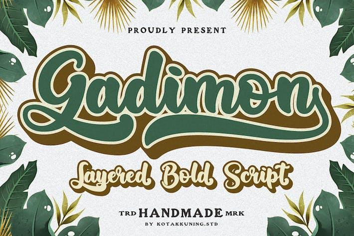 Thumbnail for Gadimon Layered Script Font
