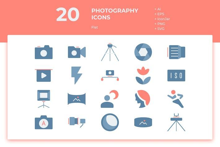 Thumbnail for 20 Íconos de Fotografía (Plana)