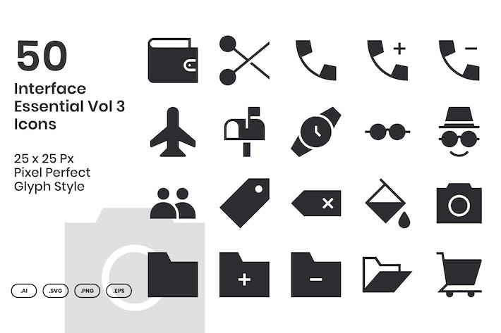 50 основных Иконки интерфейса, том 3 - Символ